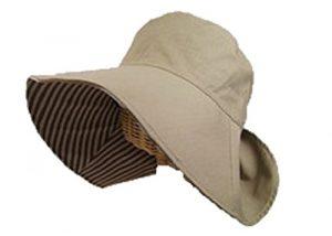 首まである帽子