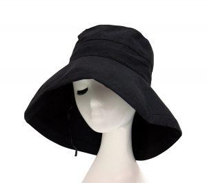 UVカット つば広帽子